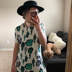 Cactus tee shirt dress